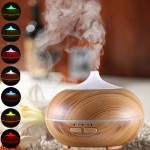 10W 150mL Wood Grain Aromatherapy Air Purifier Humidifier with LED Light for Office / Home Room (Brown)