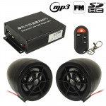 Motorcycle Anti-theft Digital MP3 with 2.5 inch Speaker, FM Radio & Remote Control, Support SD Card & USB Flash Disk(Black)