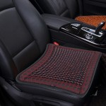 Universal Summer Leather Mesh Breathable Cool Massage Cushion Mat with Maple Wooden Bead for Car Family Office