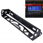 Car Auto Universal Aluminum Alloy Modified License Plate Frame Holder(Black)
