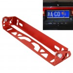 Car Auto Universal Aluminum Alloy Modified License Plate Frame Holder(Red)