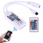 Mini Wifi RGB LED Remote Controller with 24 Keys Remote Control, Support iOS 6 or later & Android 2.3 or later, DC 5-28V