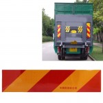 Car Auto Aluminum 55cm × 13cm Rear Warning Sign Sticker for Truck and Van