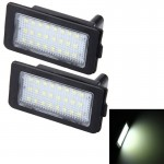 2 PCS Canbus License Plate Light with 24 SMD-3528 Lamps for BMW E38(White Light)