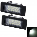2 PCS License Plate Light with 24 SMD-3528 Lamps for BMW E81/E82/E90/E91/E92/E93/E60/E61/E39 (White Light)