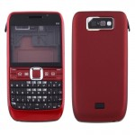 iPartsBuy for Nokia E63 Full Housing Cover (Front Cover + Middle Frame Bezel + Battery Back Cover + Keyboard)(Red)