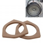 2 PCS Car Auto Wood Loudspeaker Base Protection Cover Holder Mat for Toyota