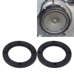 2 PCS 4 inch Car Auto ABS Loudspeaker Base Protection Hollow Cover Holder Mat, Inner Diameter: 10cm