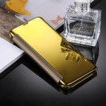 For Samsung Galaxy S8 / G9500 Electroplating Mirror Horizontal Flip Leather Case with Sleep / Wake-up Function(Gold)
