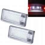 2 PCS License Plate Light with 24 SMD-3528 Lamps for Audi