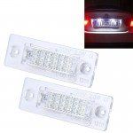 2 PCS License Plate Light with 24 SMD-3528 Lamps for Volkswagen
