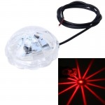 SRF-3089 DC8-80V 5W 300LM Chassis Light For Motorcycle,Wire Length: 76cm (Red Light)