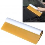 Car Auto Body Surface Window Wrapping Film Yellow Rubber Scraper Sticker Tool Black with Silver Metal Handle