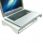 Universal Aluminum Alloy Desktop Height Extender Holder Stand for Laptop, Small Size: 40x21x5cm(Silver)