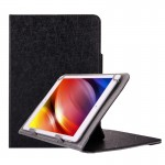 Universal Strokes Texture Horizontal Flip Leather Case with Holder for 10 inch Tablet PC (Black)