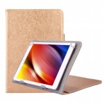 Universal Strokes Texture Horizontal Flip Leather Case with Holder for 10 inch Tablet PC (Gold)