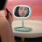 OneFire 1.32W 150 LM Multi-function Touch Switch Rechargeable Makeup Mirror LED Desk Lamp Night Light, DC 5V(Mint Green)