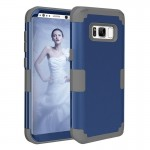 For Samsung Galaxy S8 + / G9550 Dropproof 3 in 1 Silicone sleeve for mobile phone(Dark Blue)