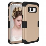 For Samsung Galaxy S8 + / G9550 Dropproof 3 in 1 Silicone sleeve for mobile phone(Gold)