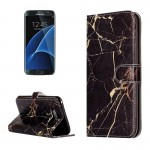 For Samsung Galaxy S8 + / G9550 Black Gold Marble Pattern Horizontal Flip Leather Protective Case with Holder & Card Slots & Wal