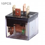 10 PCS JD-1912 80 AMP 12V Waterproof Car Auto Four Plugs Relay with Warning Light
