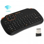 Viboton S1 Air Mouse 83-keys QWERTY 2.4GHz Mini RechargeableWireless Keyboard with Touchpad for PC, Pad, Android / Google
