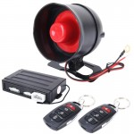Car Safty Warning Alarm System Engine Push Start/Stop Button with Two Remote Controls, DC 12V