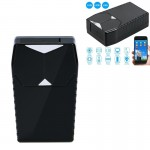 GSM GPRS GPS Positioning Tracker Real Time Positioning SMS APP Tracking Sound Alarm Monitoring for iOS Android (Black)