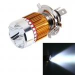 H4 9W 900 LM 6000K Static + Strobe Light Motorcycle Headlight Lamp with 3 COB White Light Lamps and Red Light+Pink Light+Blue Li