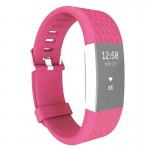For Fitbit Charger 2 Bracelet Watch Diamond Texture TPU Watchband, Full Length: 23cm(Magenta)