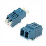 LC-LC Single-Mode Duplex Fiber Flange / Connector / Adapter / Lotus Root Device(Blue)