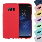 For Samsung Galaxy S8 Lovely Candy Colors Soft TPU Protective Case (Red)