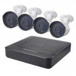 COTIER A4B2 4Ch 720P 1.0 Mega Pixel Bullet IP Camera NVR Kit, Support Night Vision / Motion Detection, IR Distance: 20m