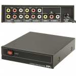 4-Way Video & Audio AMP Splitter with Switch, 1 Input, 4 Outputs (JM-VA104)