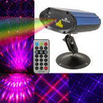 2-color Multifunction Disco DJ Club holographic laser star projector with Holder & Remote Control, Support Sound Active Function