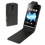 High Quality Leather Case for Sony Xperia S / LT26i(Black)