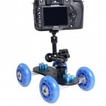 YELANGU YLG0105B Mini Scaled Camera Dolly Track Car for Canon / Nikon Cameras / DSLR Camera