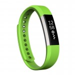 For Fitbit Alta Watch Oblique Texture Silicone Watchband, Small Size, Length: about 18.5cm(Green)