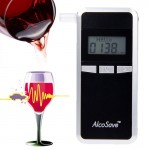 Alcohol 4 Digital LCD Display Breath Analyzer Tester(Black)