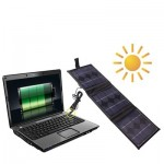 Portable 3 x 2.5 W Solar Panel-Multi-Functional Battery chargers, it can Charge PC with DC Plug