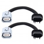 2 PCS H13 Car HID Xenon Headlight Male to Female Conversion Cable with Ceramic Adapter Socket