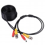 CCTV Cable, Video Power Cable, RG59 Coaxial Cable, Length: 10m(Black)