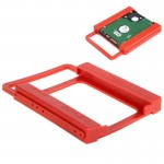 2.5 inch to 3.5 inch SSD HDD Notebook Hard Disk Drive Mounting Bracket Adapter Holder Hot Search(Red)
