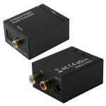 Analog RCA to Digital Optical Coaxial Toslink Audio Converter(Black)