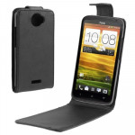 High Quality Leather Case for HTC One X / Edge / S720e (Black)