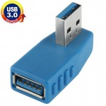 USB 3.0 AM to USB 3.0 AF Cable Adapter (BLue)