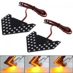 Universal Amber Sequential Yellow 33 LED 3528 SMD Arrows Light for Car Side Mirror Turn Signal (Pairs)