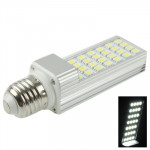 E27 6W White 28 LED 5050 SMD LED Transverse Light Bulb, AC 85-265V