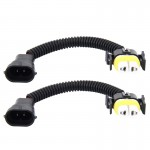 2 PCS H11 Car HID Xenon Headlight Male to Female Conversion Cable with Ceramic Adapter Socket
