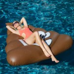 Inflatable Poo Shaped Floating Mat Swimming Ring, Inflated Size: 160 x 160cm